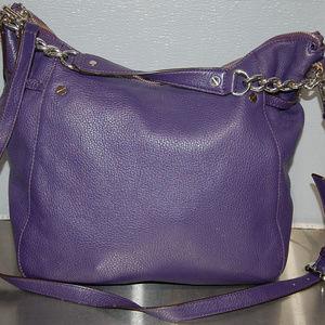Michael Kors purple leather Convertible Chain bag